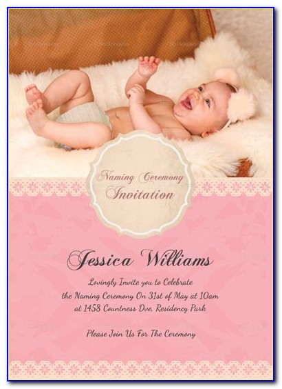 Editable Naming Ceremony Invitation Templates Free Download