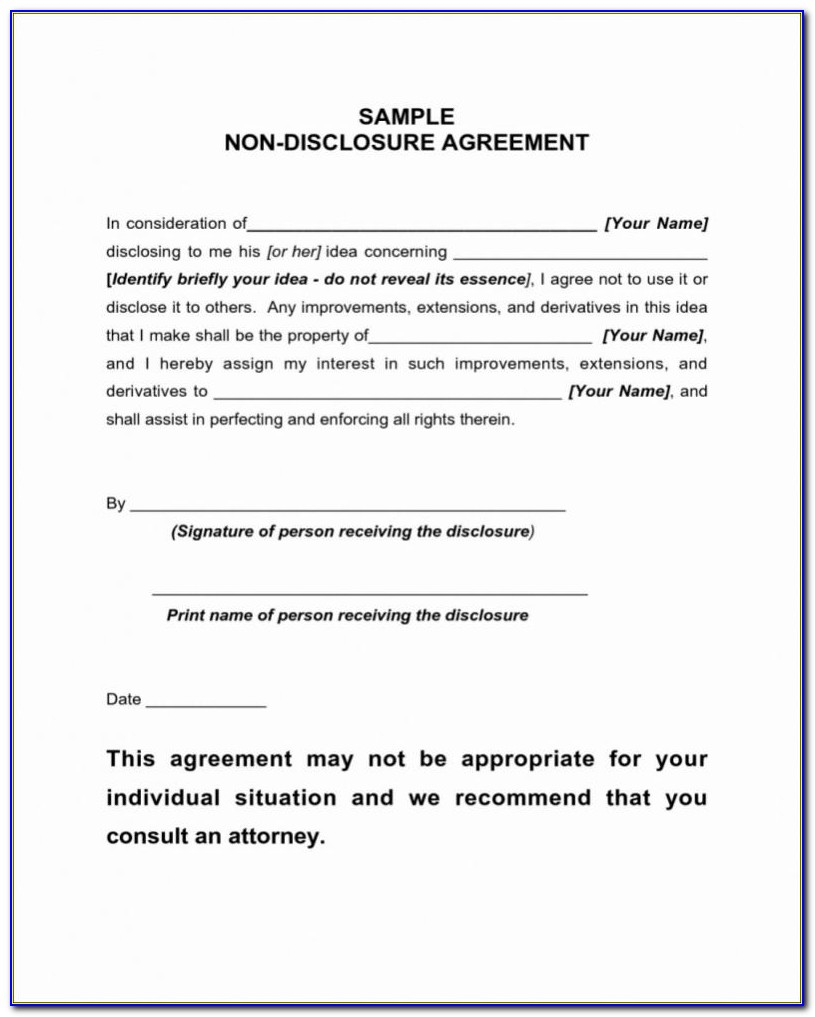 Employee Non Disclosure Agreement Format India