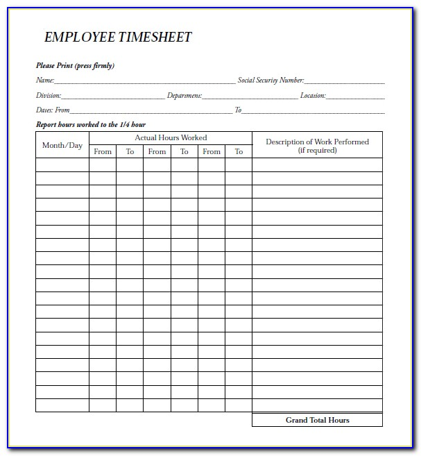 Employee Payroll Form Template