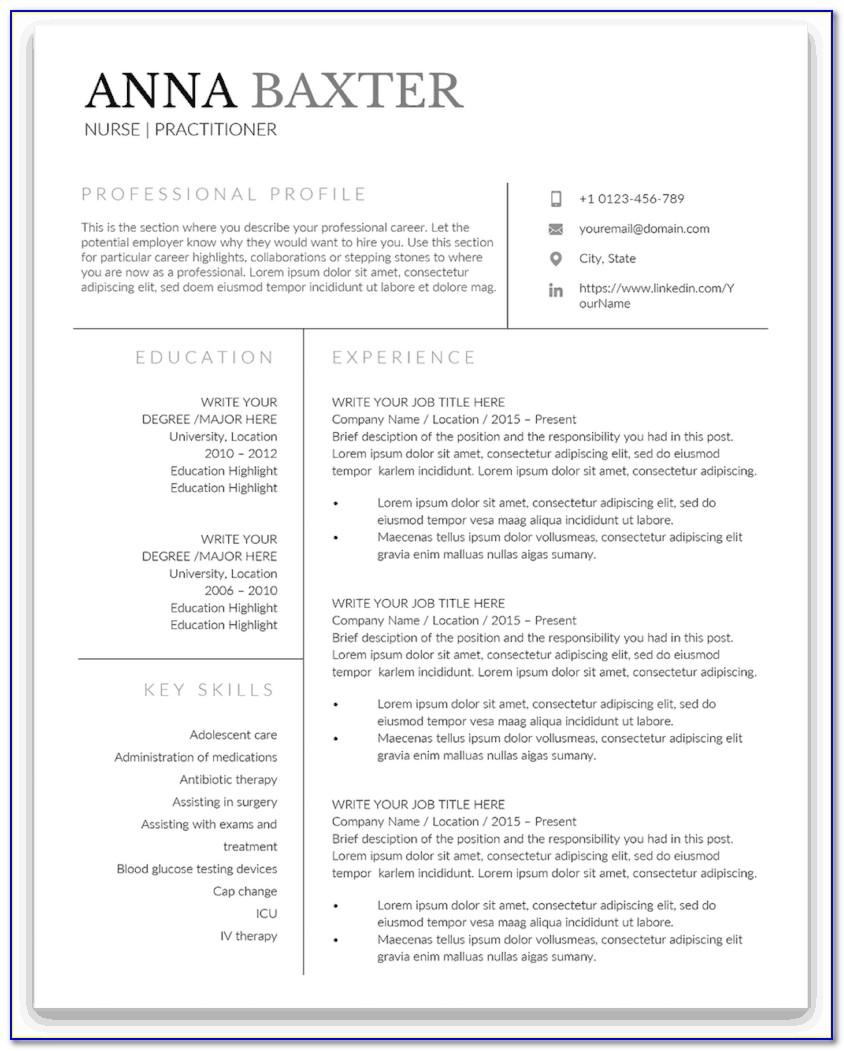 Family Nurse Practitioner Student Resume Example