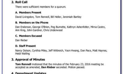First Nonprofit Board Meeting Agenda Template