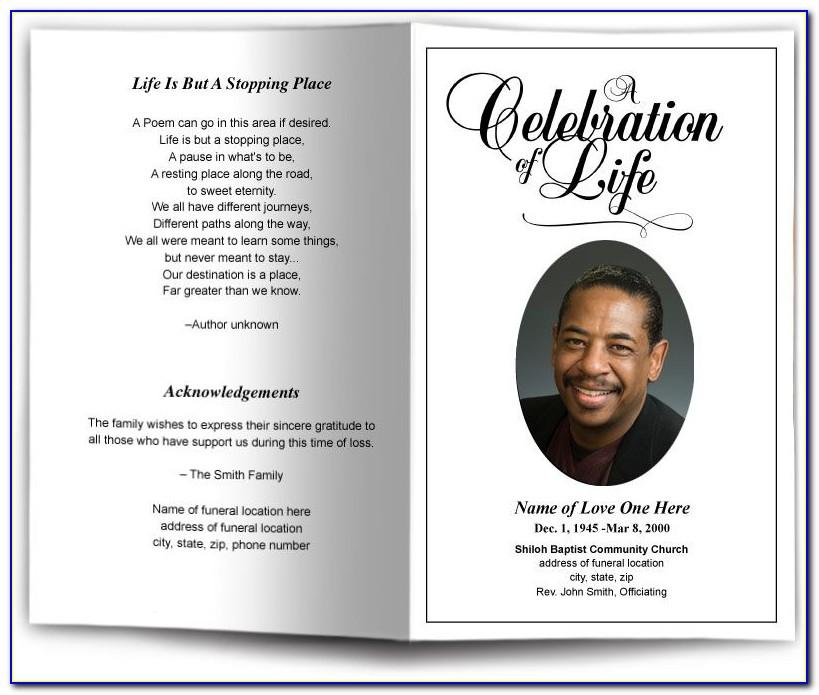 Free Editable Funeral Memorial Program Templates