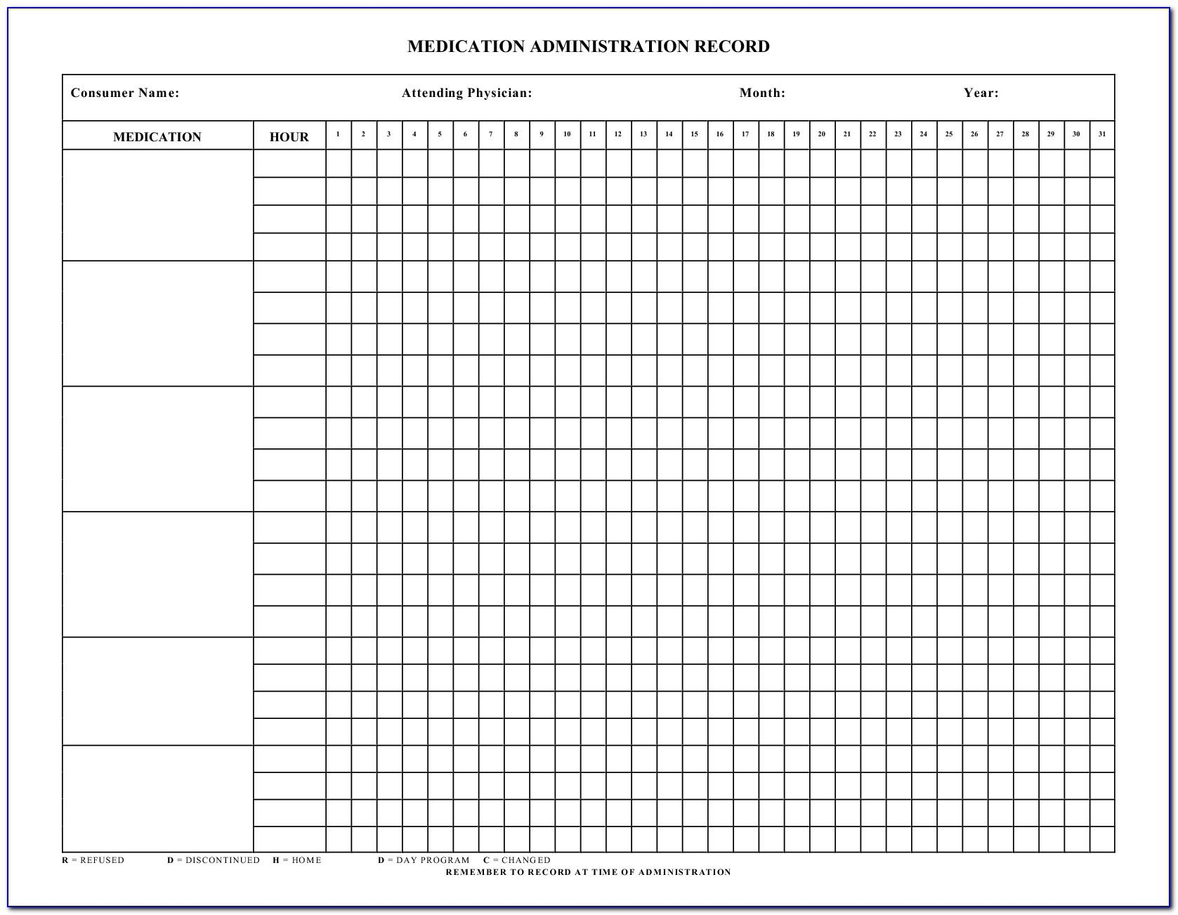 Free Medication Administration Record Template Pdf