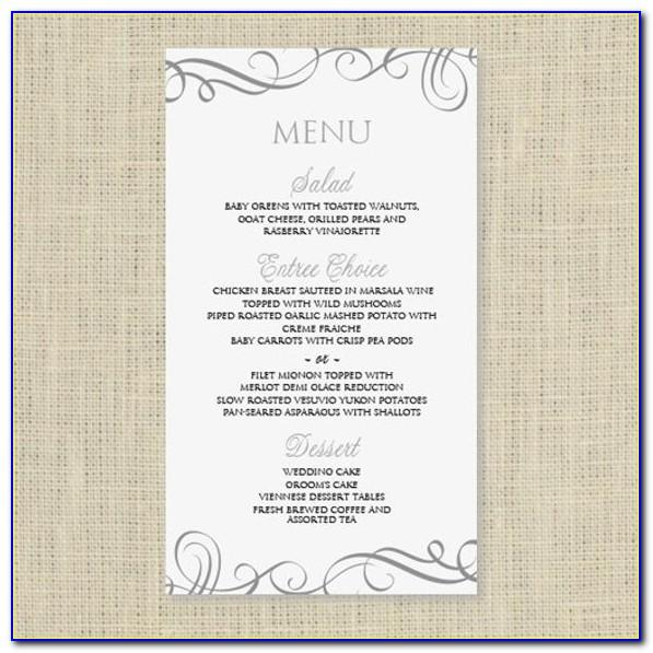 Free Menu Design Templates Uk
