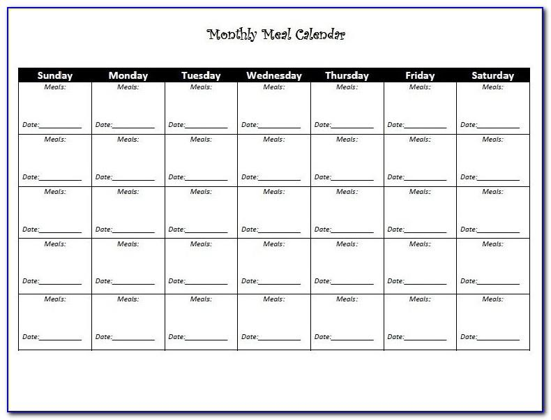 Free Monthly Workout Schedule Template