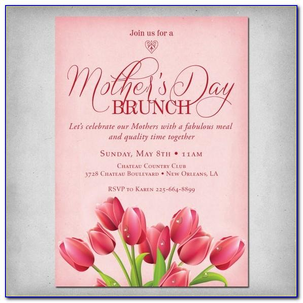 Free Mother's Day Brunch Flyer Template