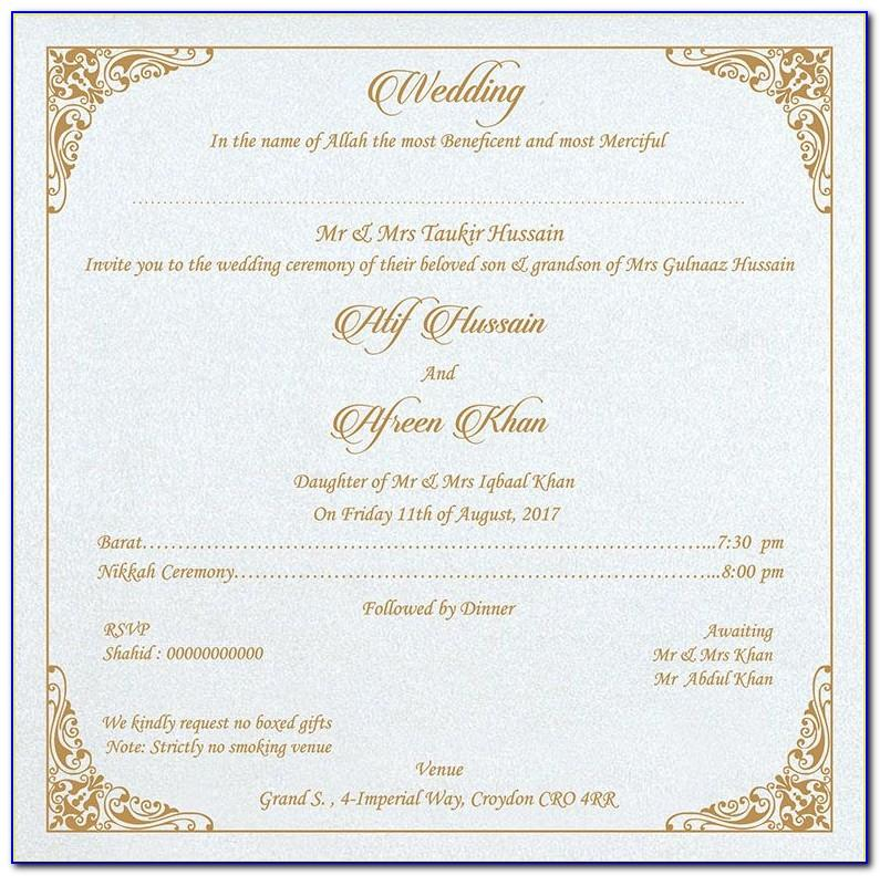 Free Muslim Wedding Invitation Templates For Word