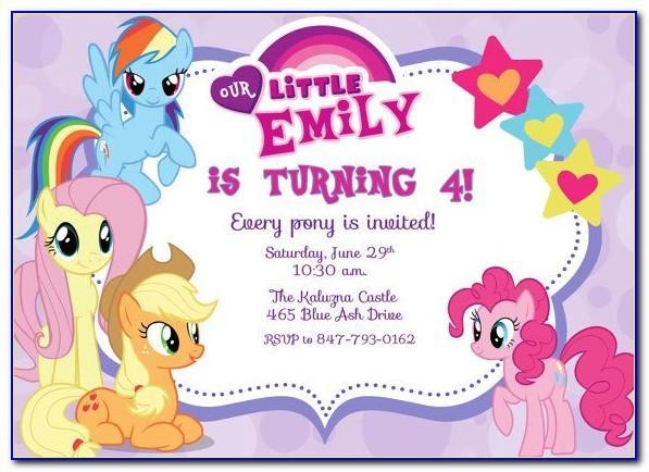 Free My Little Pony Birthday Invitation Templates