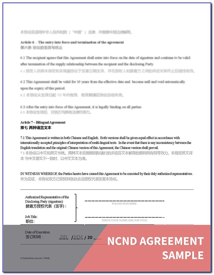 Free Nc Separation Agreement Template