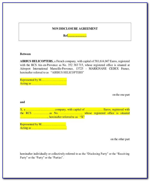 Free Non Disclosure Agreement Template Pdf