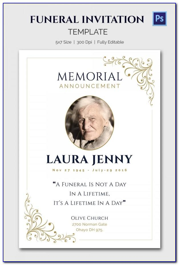 Free Online Memorial Invitation Templates