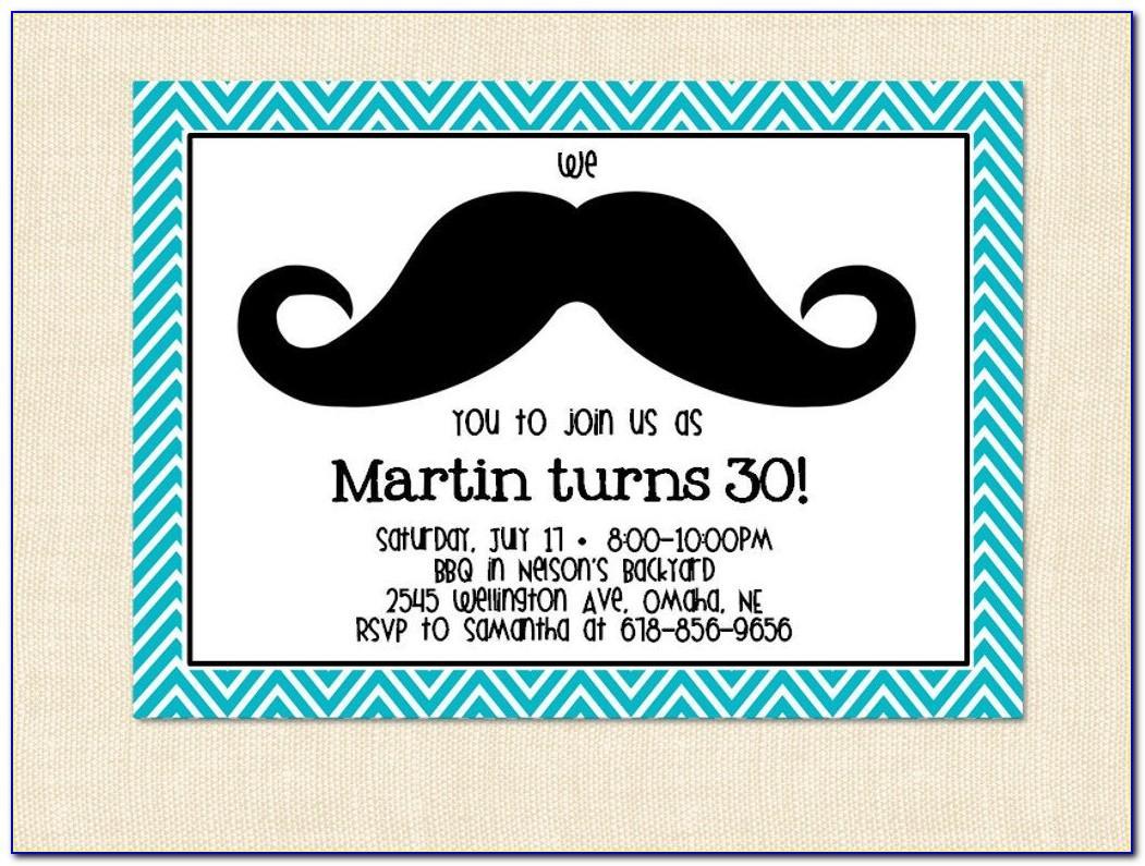 Free Printable Mustache Invitation Template
