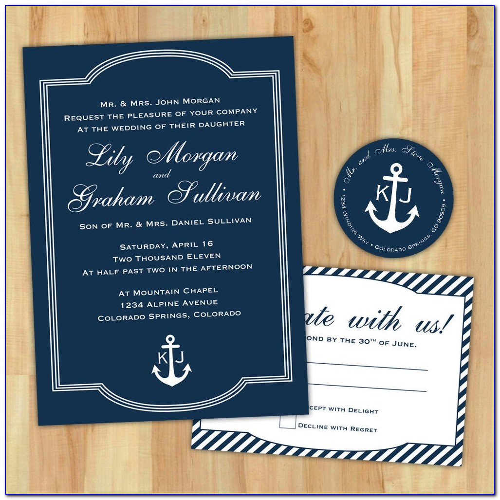 Free Printable Nautical Wedding Invitation Templates