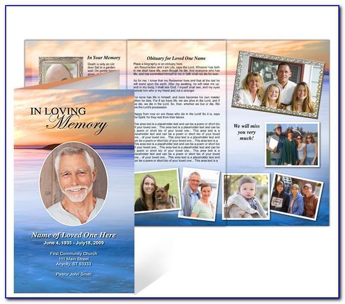 Funeral Memorial Program Template Free