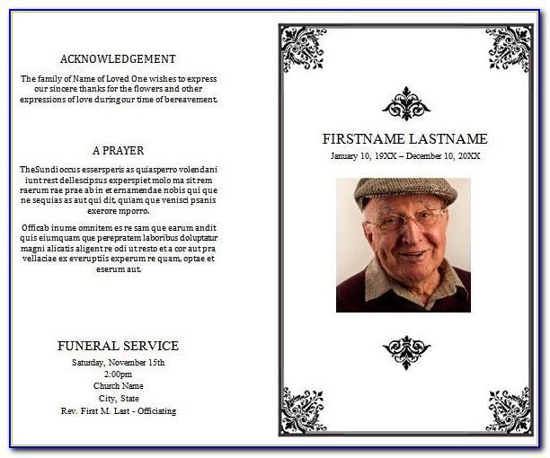 Funeral Memorial Program Templates Free