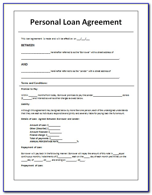 Hard Money Lending Contract Example
