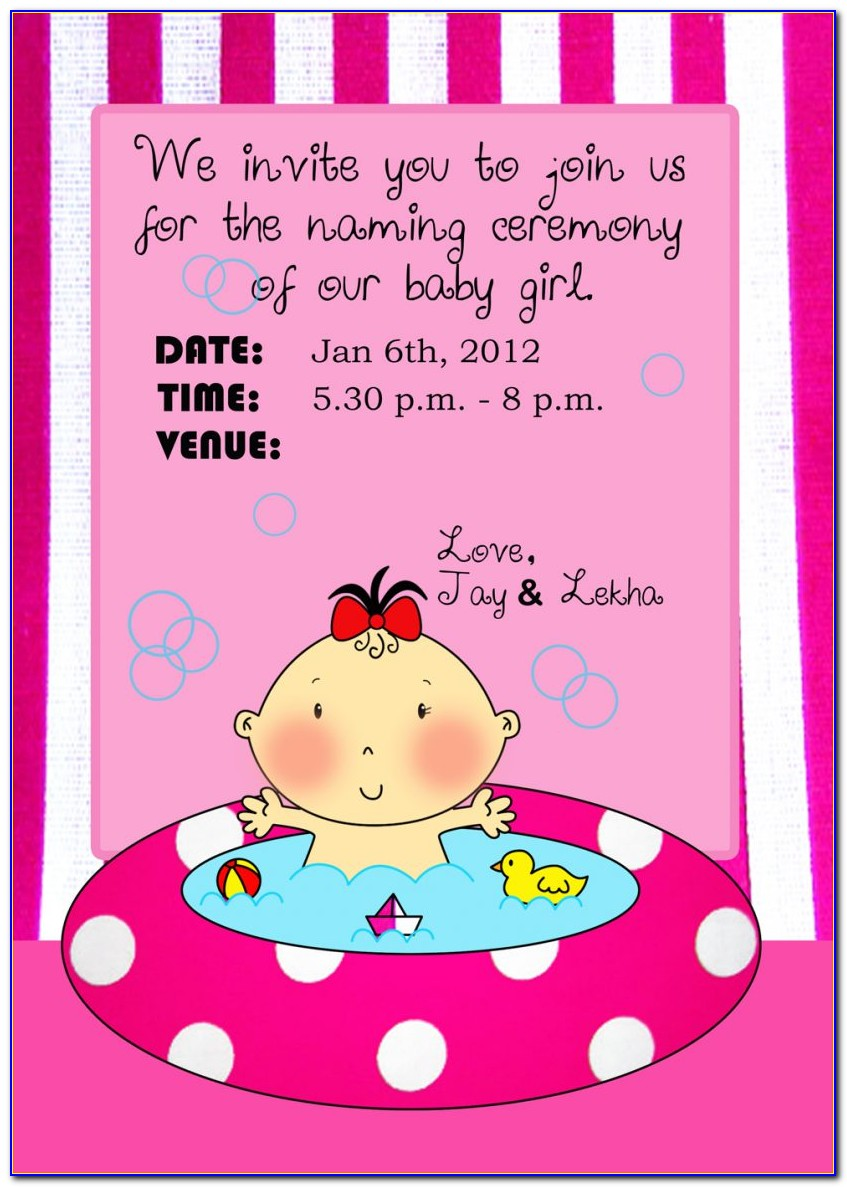 Hindu Naming Ceremony Invitation Wording In Kannada