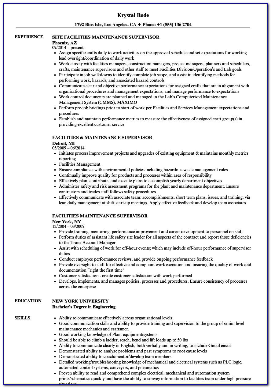 Mechanical Engineer Resume Template For Fresher Pdf Download