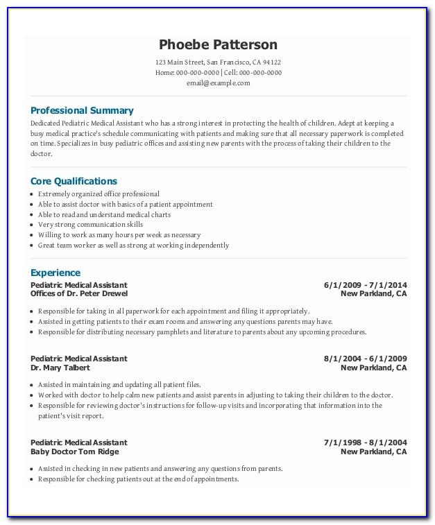 Medical Assistant Resume Examples Skills