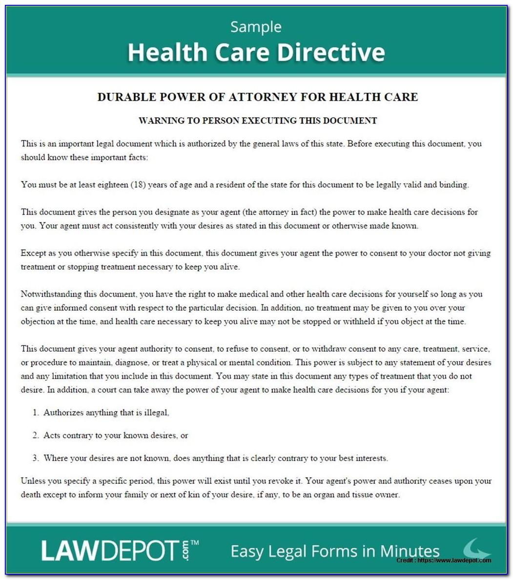 Medical Directive Template Ontario
