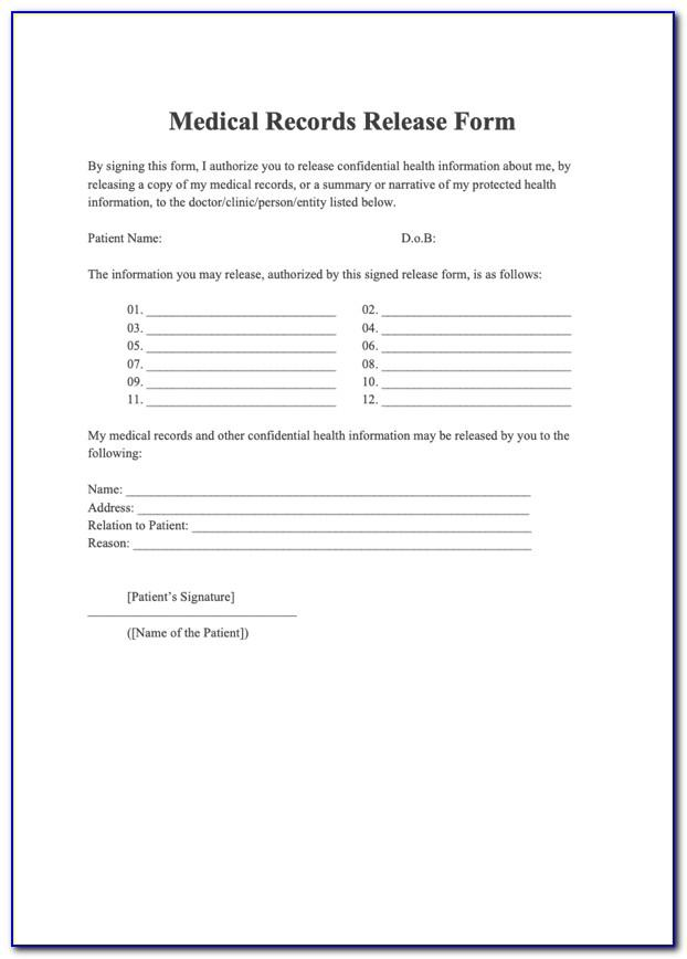Medical Questionnaire Template For New Employees