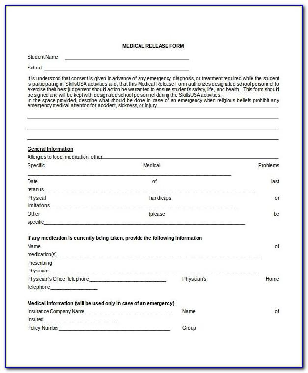 Medical Questionnaire Template Uk