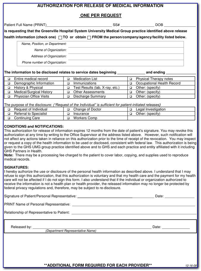 Medical Record Review Forms