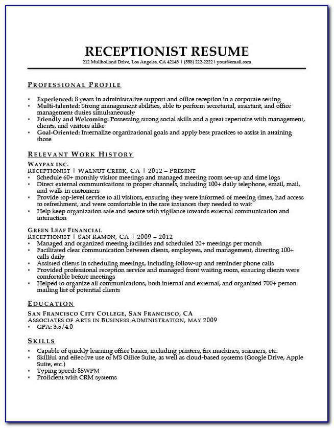 Medical Resume Templates 2015