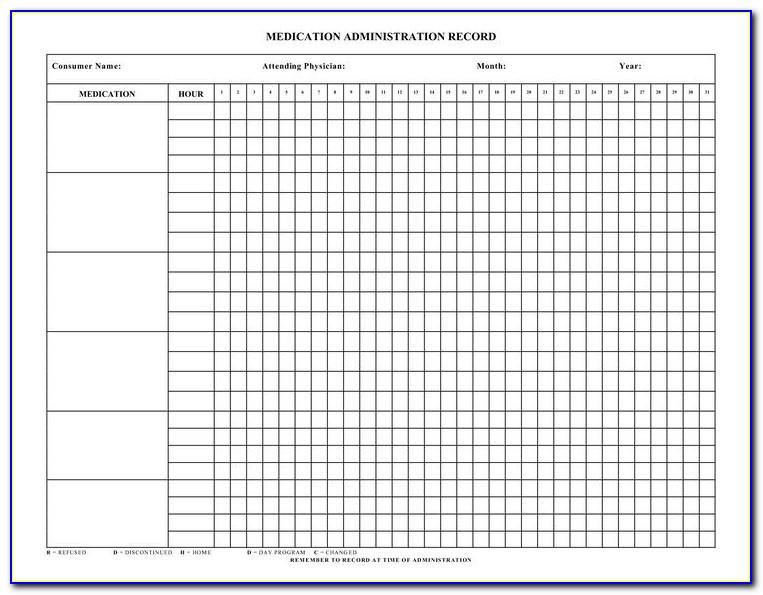 Medication Administration Record Template Download