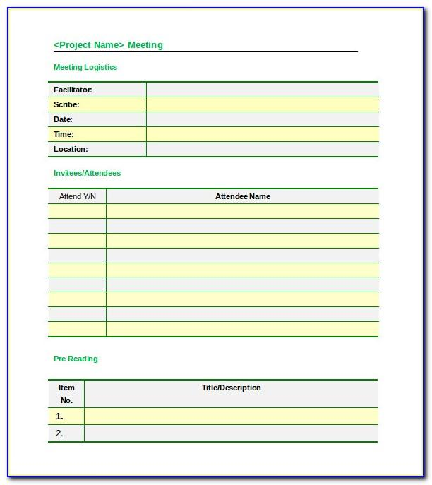 Meeting Minutes Format Form