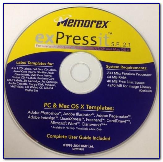 Memorex Cd Dvd Label Maker Template