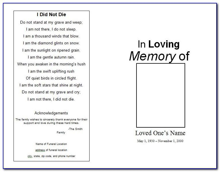 Memorial Service Invitation Templates Free