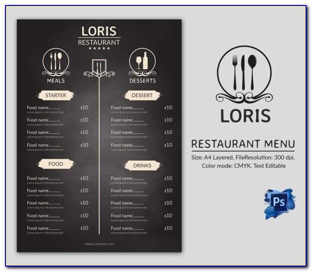 Menu Board Design Templates Free Download