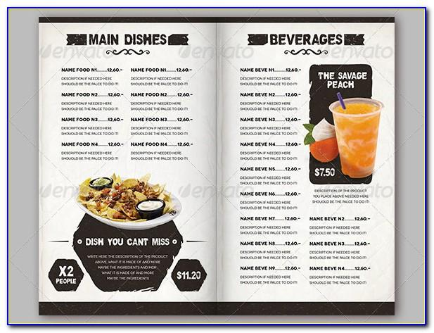 Menu Board Design Templates Free
