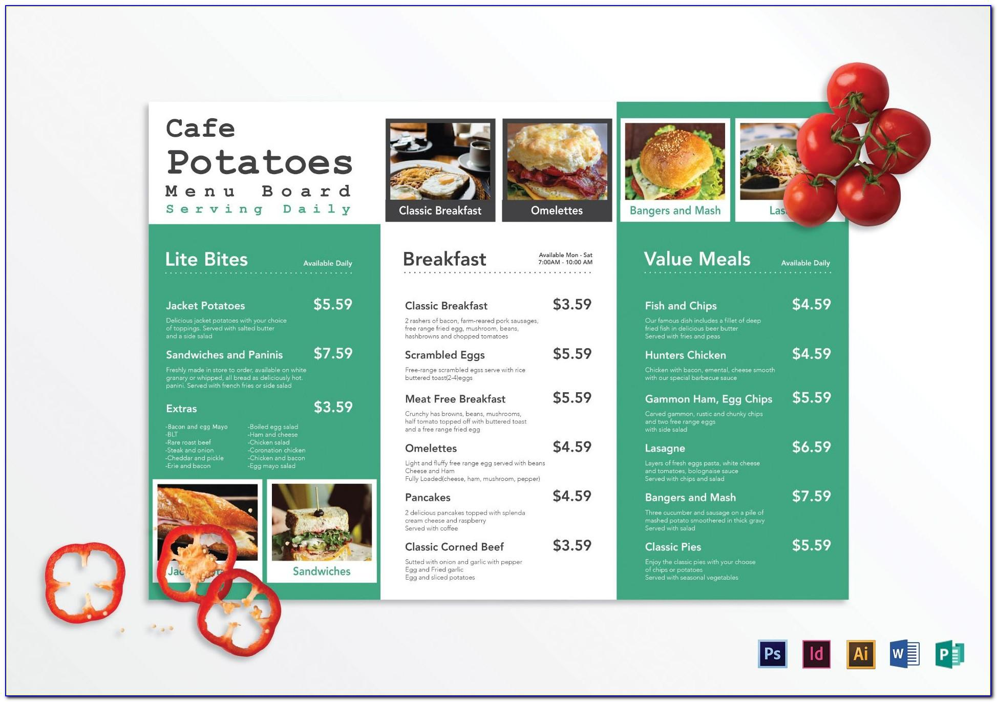 Menu Design Templates Free