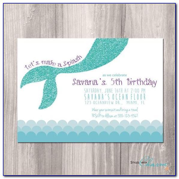 Mermaid Birthday Invitation Template Free