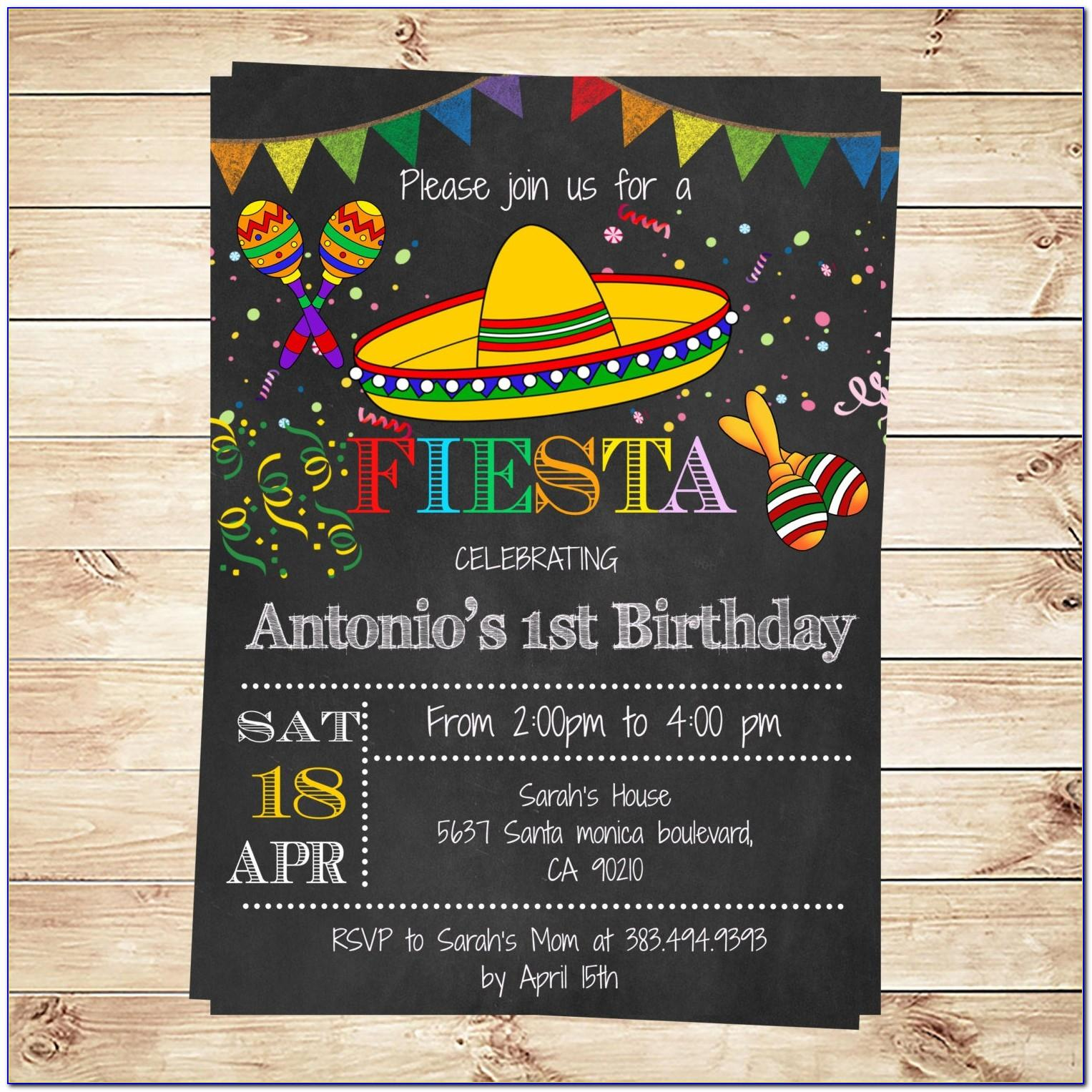 Mexican Fiesta Party Invitation Templates Free
