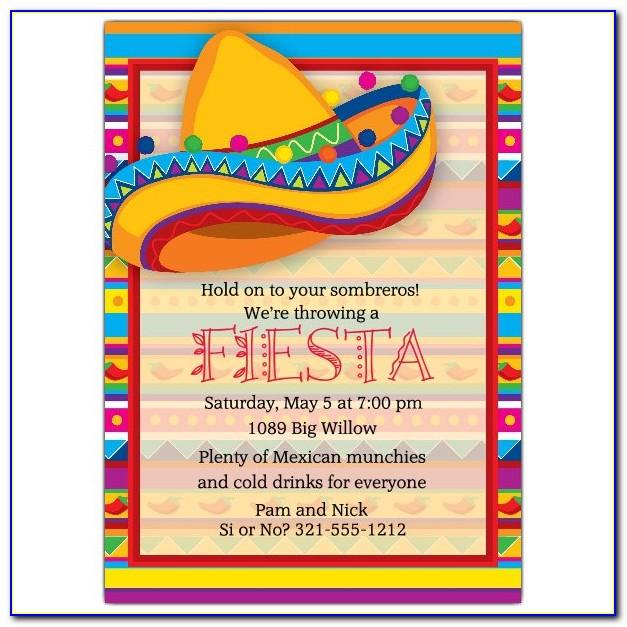 Mexican Themed Party Invitation Templates Free