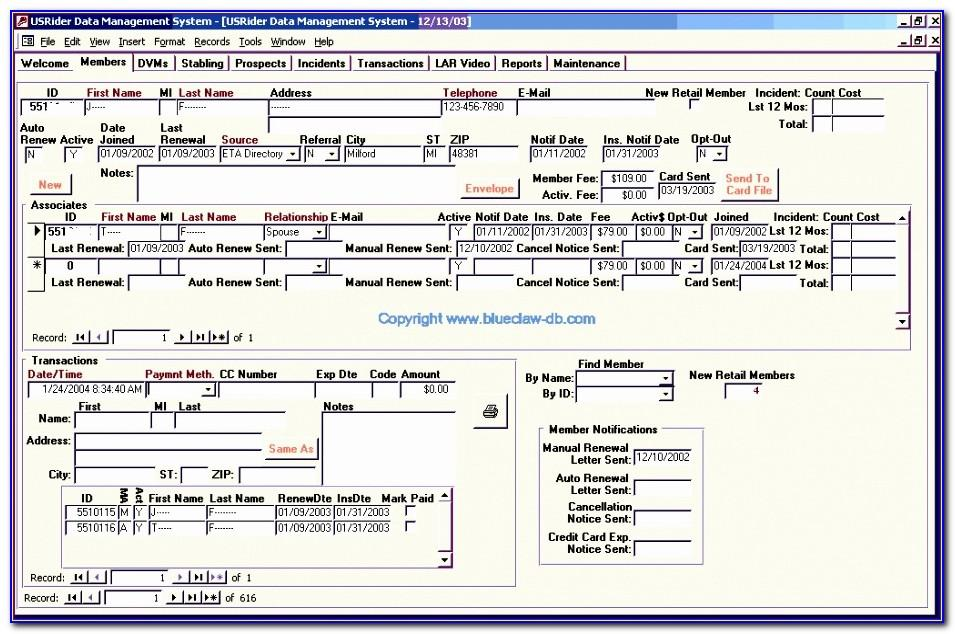 Microsoft Access 2003 Templates Free Download