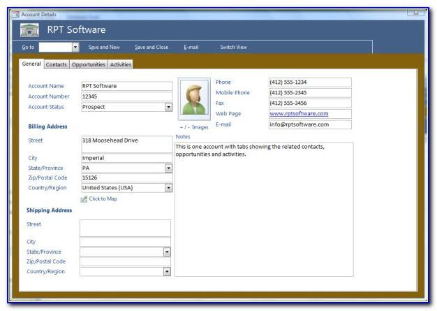 Microsoft Access Crm Template Free