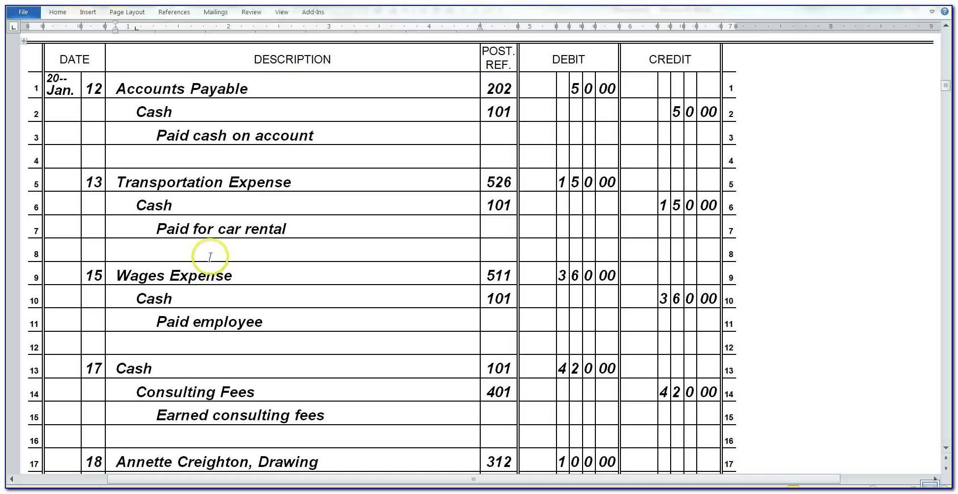Microsoft Excel Contact Database Template