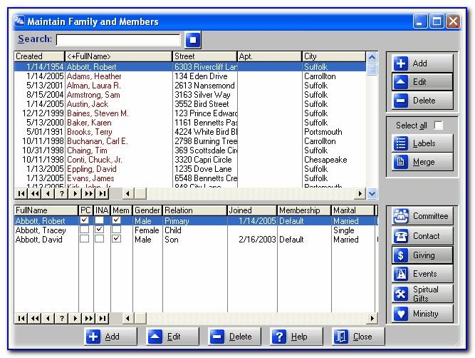 Microsoft Excel Database Templates Download