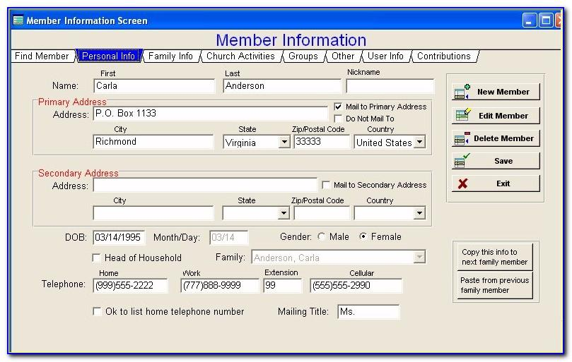 Microsoft Excel Database Templates Free Download