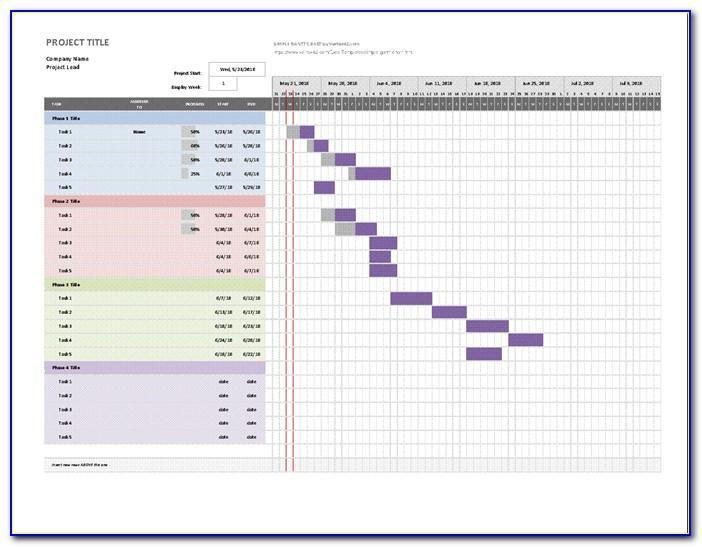 Microsoft Excel Gantt Chart Template 2013