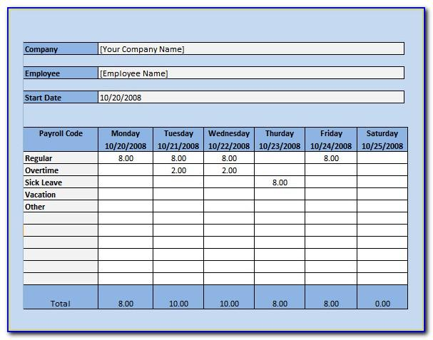 Microsoft Excel Payroll Template Download