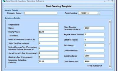 Microsoft Excel Payroll Template Uk