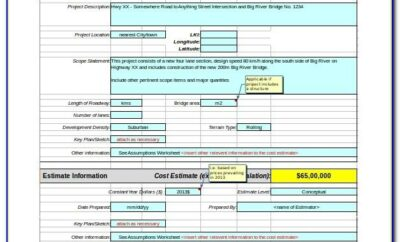 Microsoft Excel Project Plan Templates