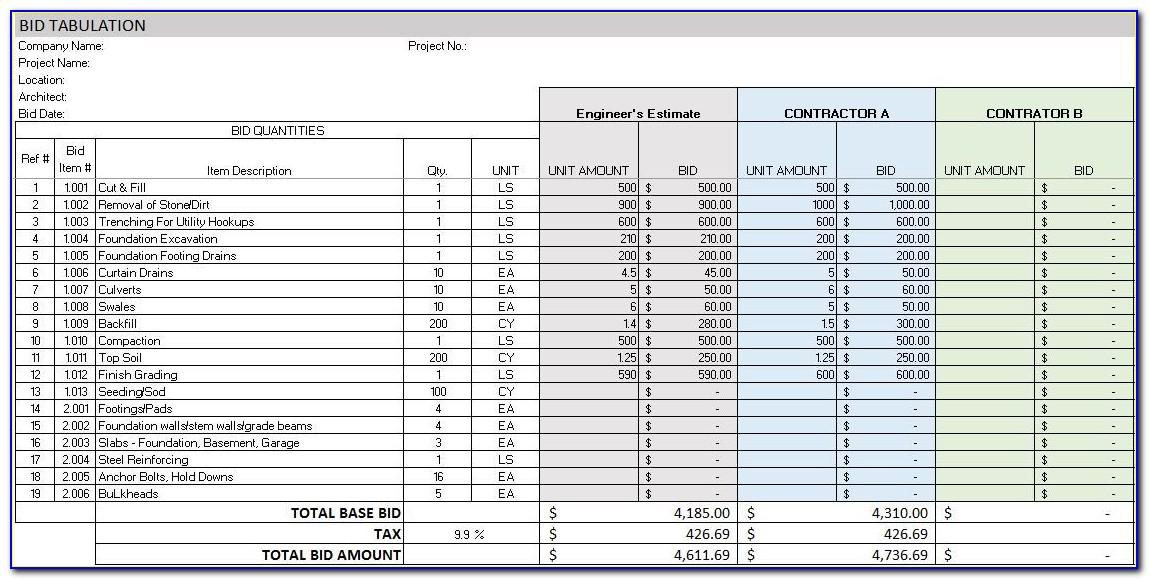 Microsoft Excel Project Scheduling Template