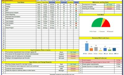 Microsoft Excel Project Template Download