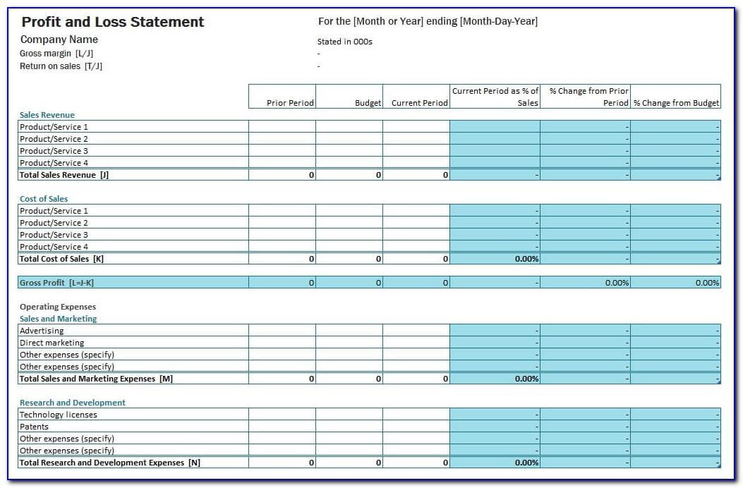 Microsoft Excel Sheet Templates